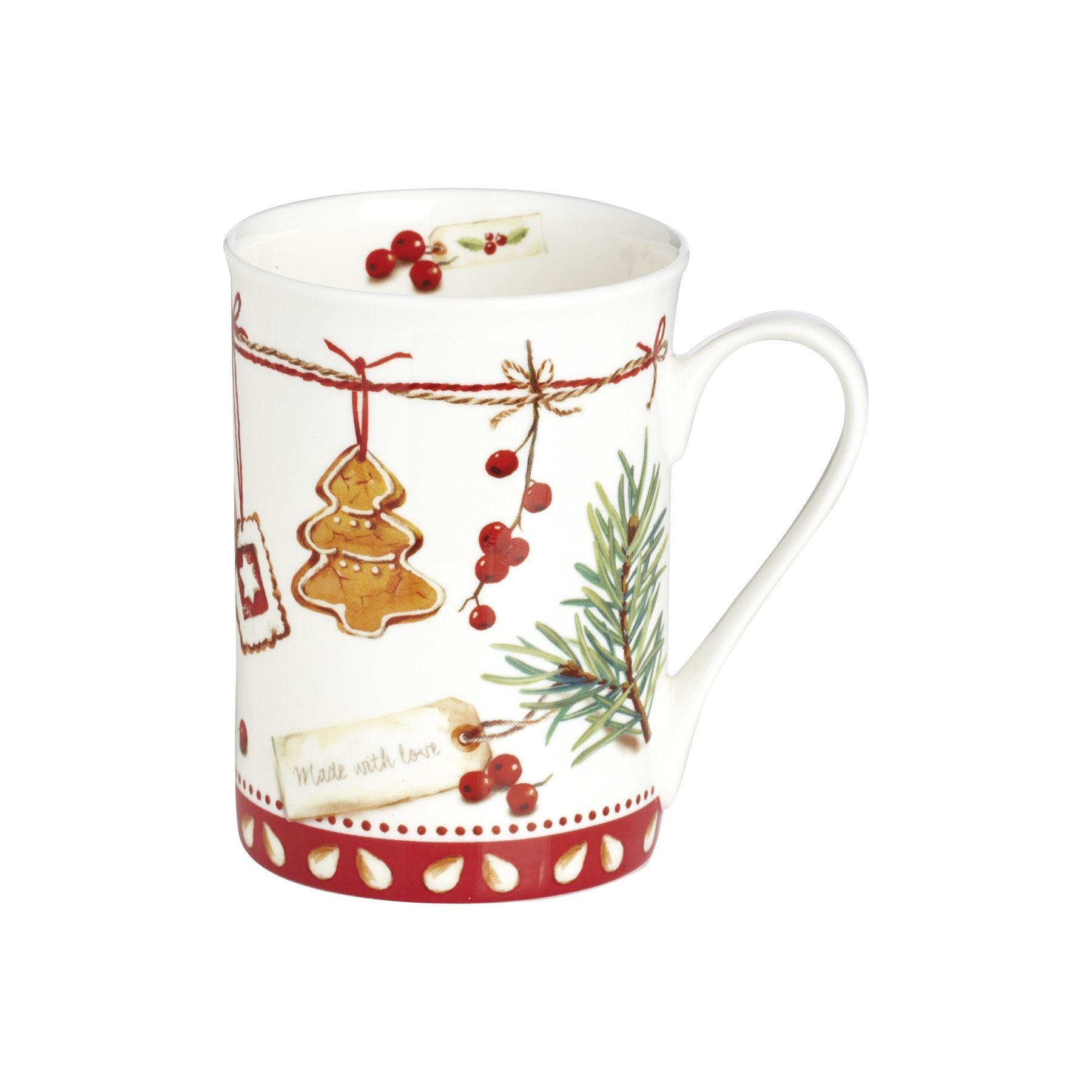 Ihr Christmas Cookies Made With Love Bone China Festive Coffee Mug Tea Cup Gift Ebay