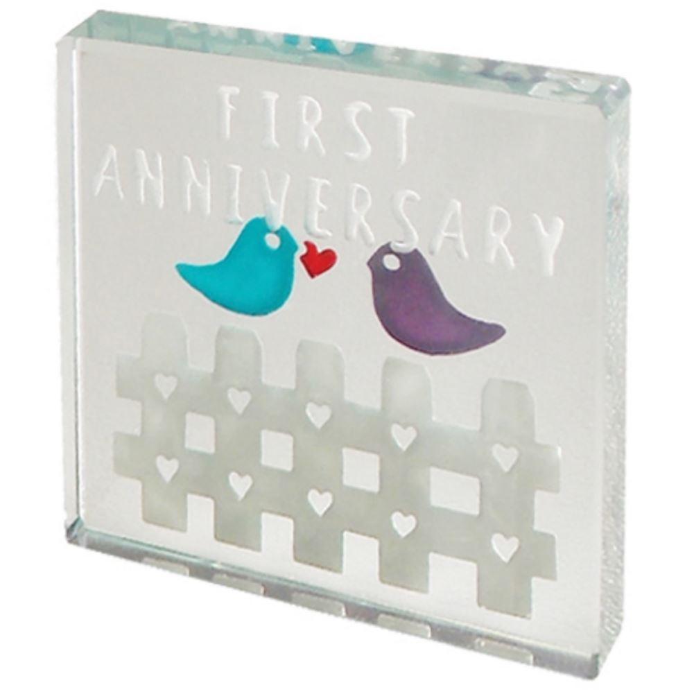 Amazon Wedding Gift Ideas: Spaceform Glass Minature Token First Wedding Anniversary