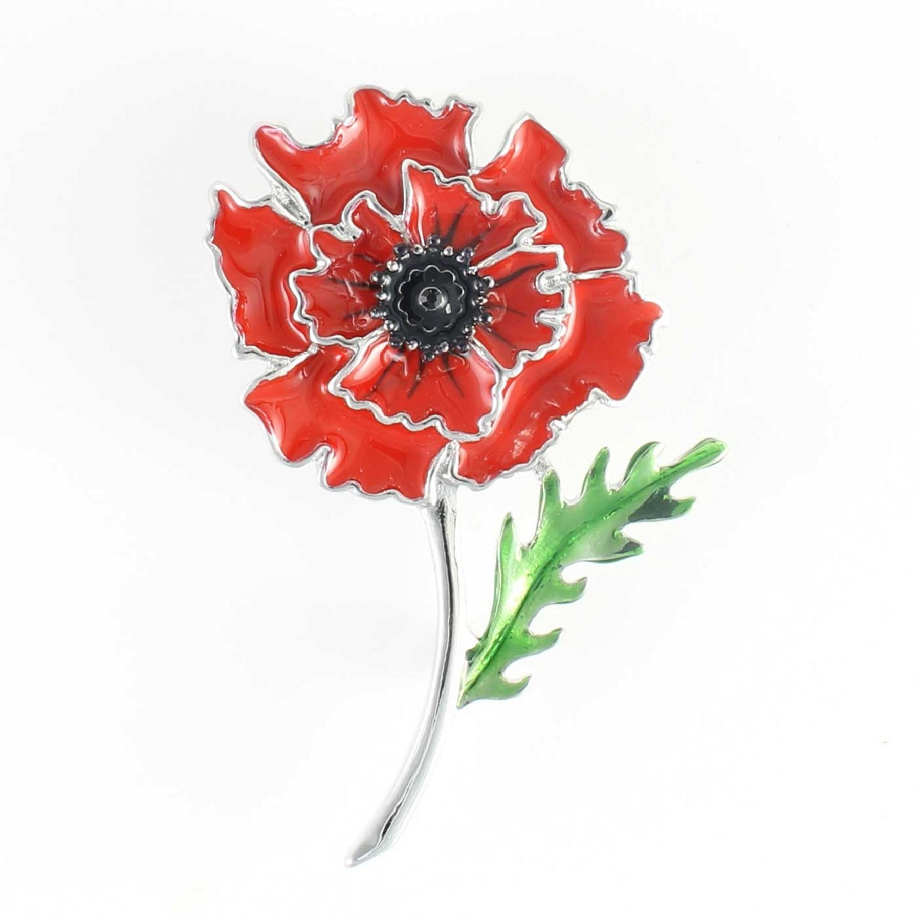 Charity Donation Gift Remembrance Poppy Red Poppy Tree Of Life Brooch