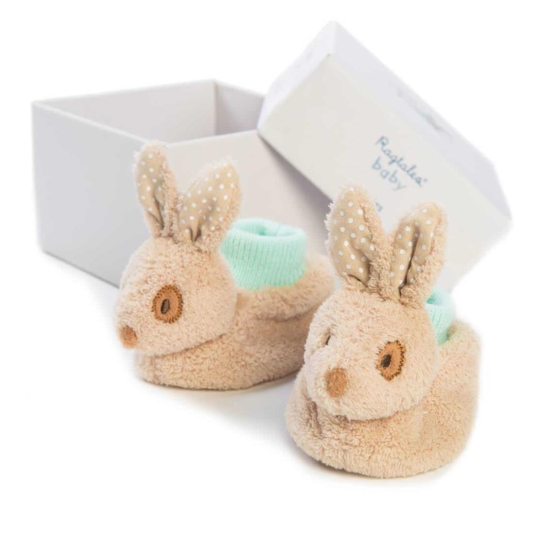 New baby Ragtales Baby Alfie Rabbit Booties For Baby Boy baby shower gift