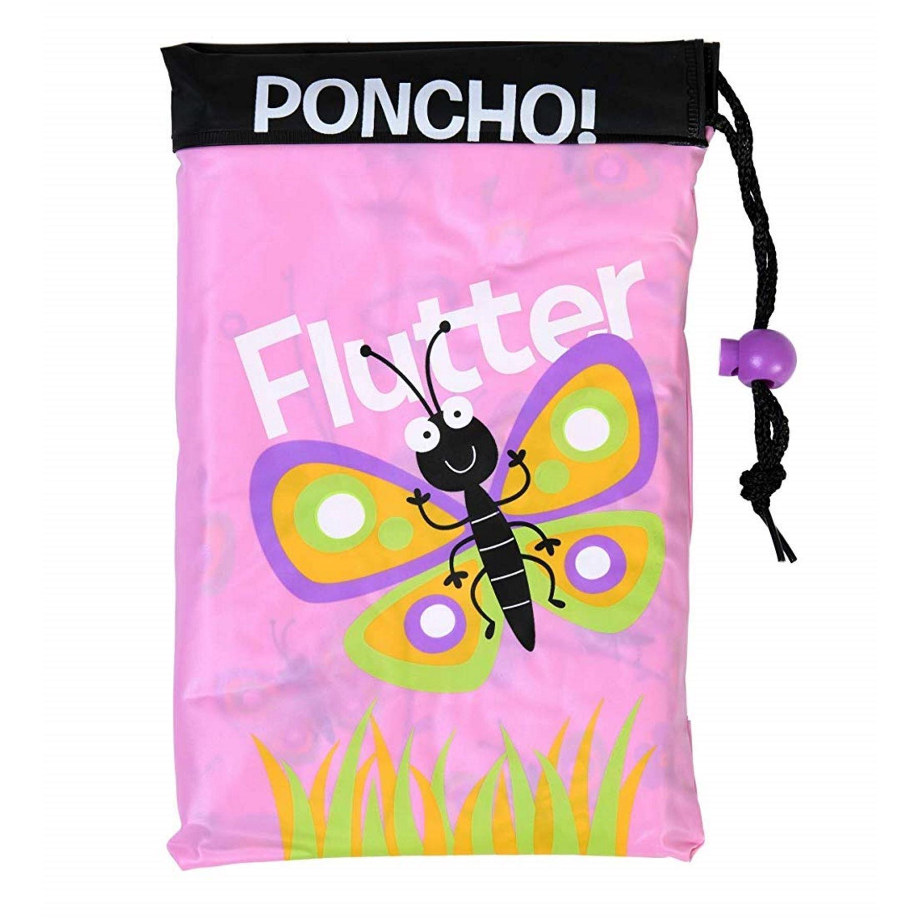 PROMO Bugzz @ soake PVC Poncho Imperméable Enfants Housse De Pluie Imperméable 3-6 ans