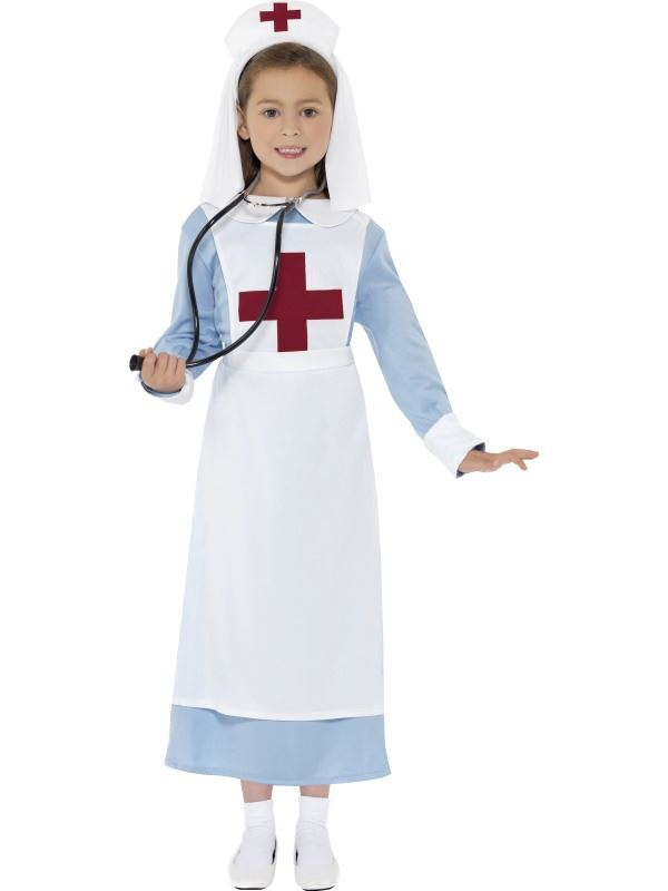 GIRLS-WW1-NURSE-COSTUME-KIDS-FANCY-DRESS-DOCTOR-  sc 1 st  eBay & GIRLS WW1 NURSE COSTUME KIDS FANCY DRESS DOCTOR OUTFIT WITH ...