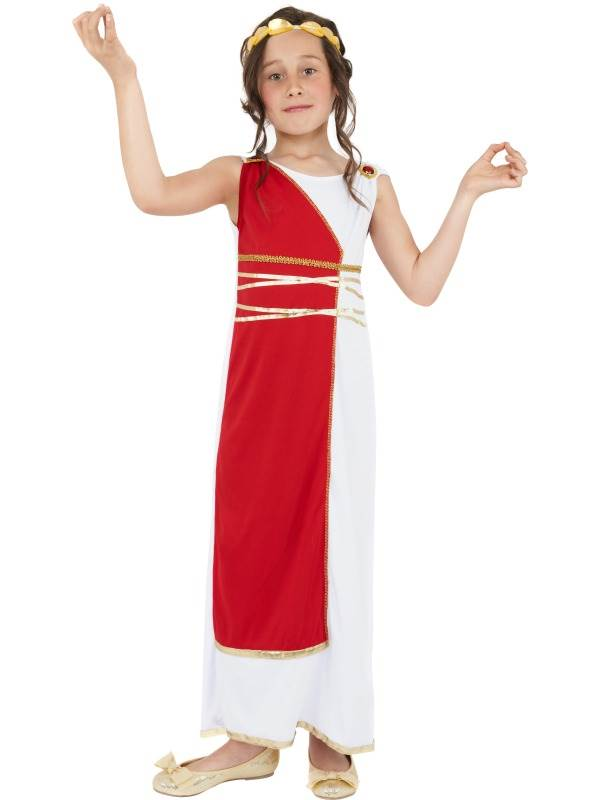 GIRLS-GRECIAN-GIRL-FANCY-DRESS-COSTUME-ANCIENT-GREEK-  sc 1 st  eBay & GIRLS GRECIAN GIRL FANCY DRESS COSTUME ANCIENT GREEK OUTFIT WITH ...