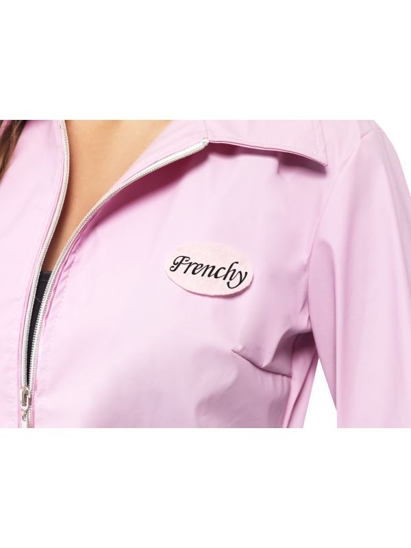 LADIES GREASE DELUXE PINK LADIES JACKET FILM MUSICAL FANCY DRESS COSTUME OUTFIT