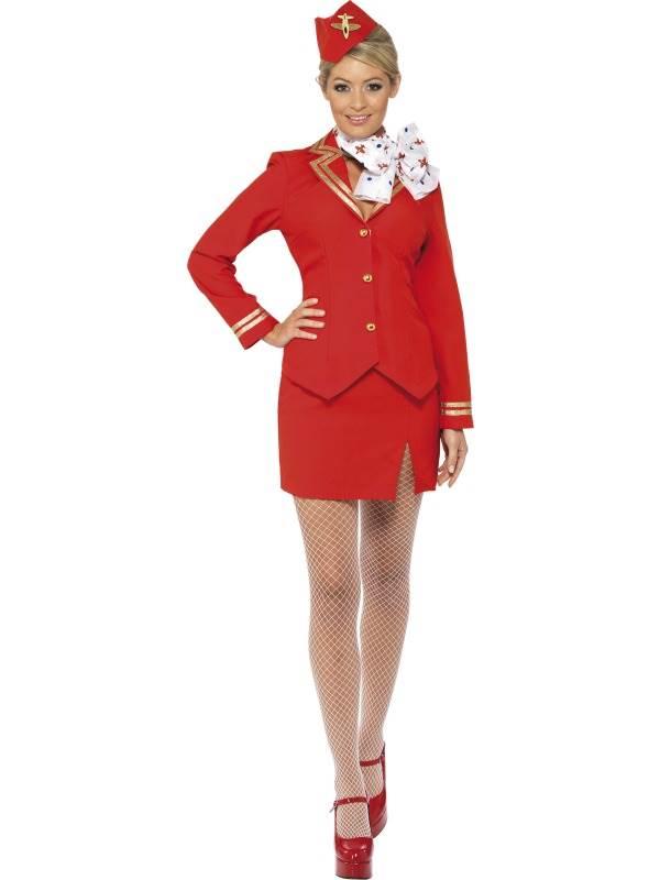 Adulte hôtesse costume femme mesdames air hôtesse déguisement costume
