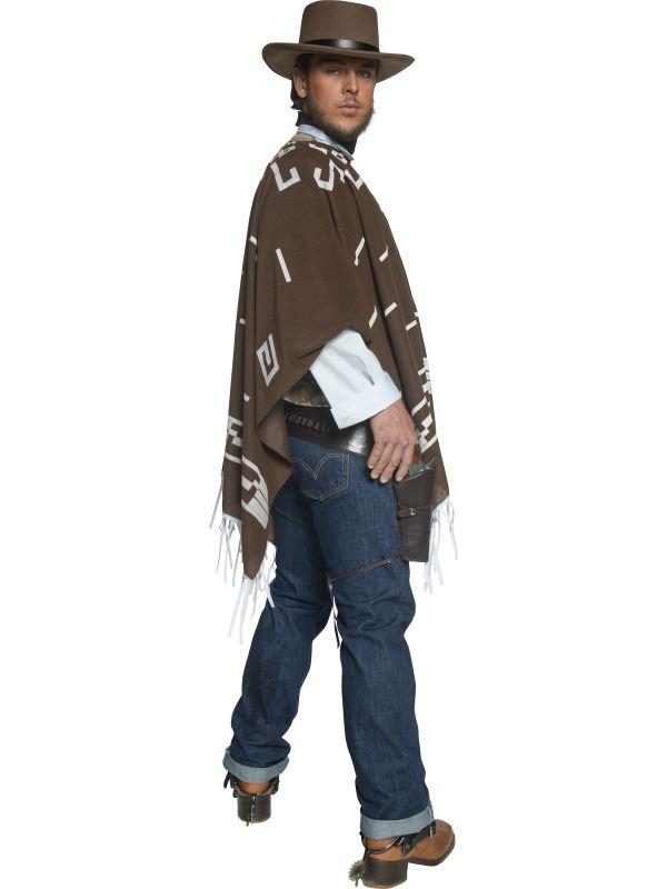 Déguisements Costumes Homme Western Cowboy Costume Errant Tireur Clint Eastwood Déguisement Twicetea