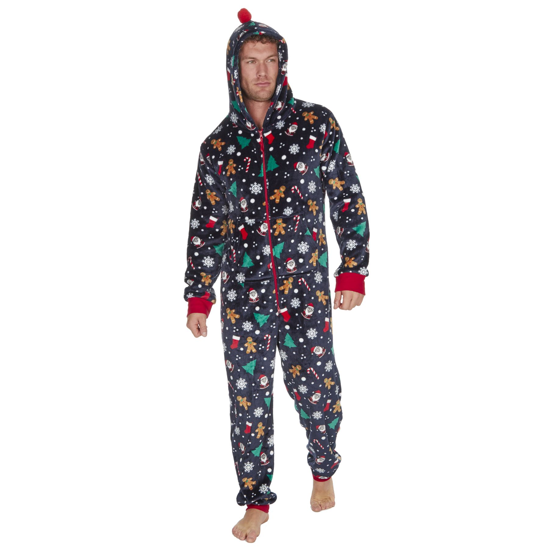 Ladies-Womens-Girls-Fleece-All-In-One-Pyjamas-Outfit-Jumpsuit-Costume-Size-6-18 thumbnail 62