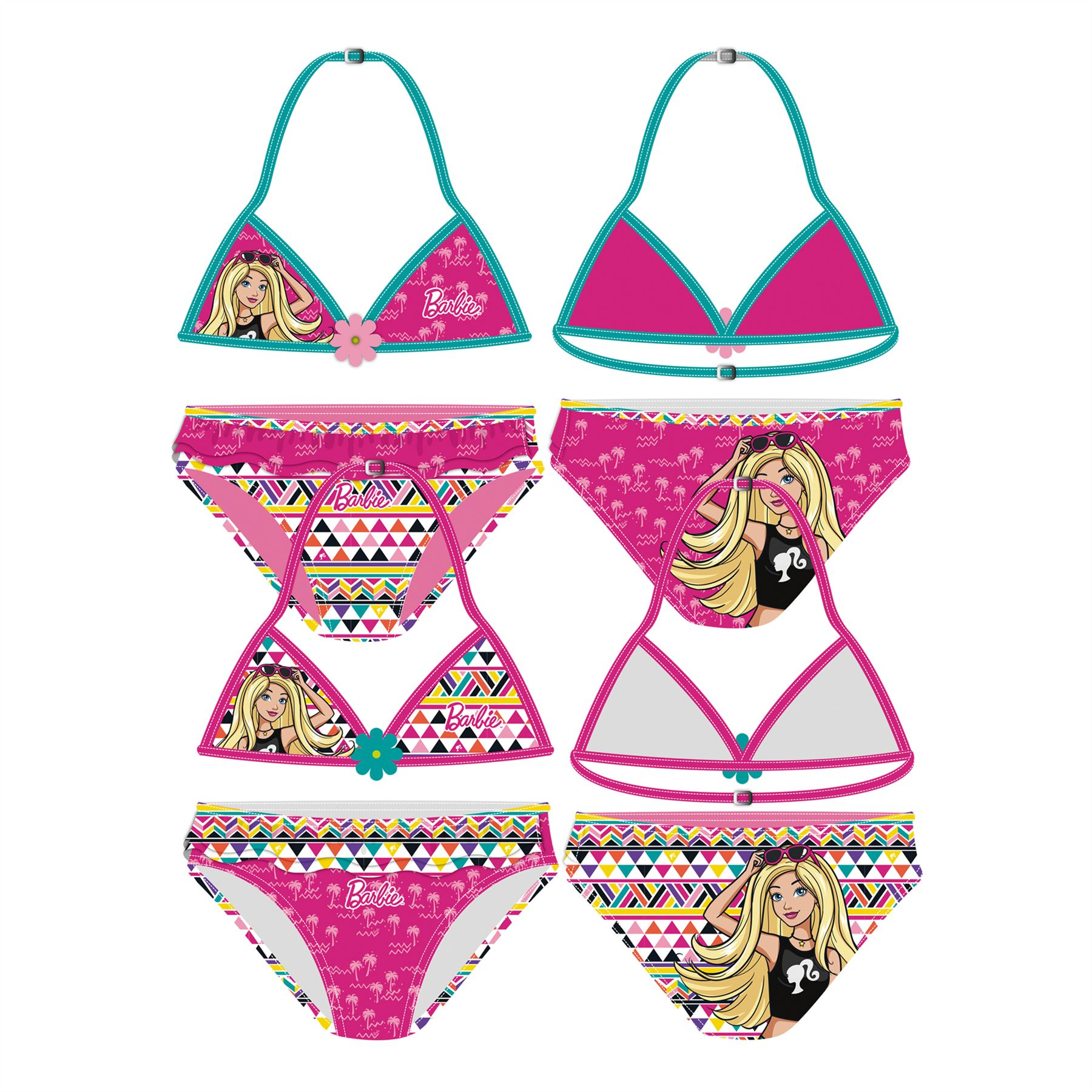 Girls-Bikini-Set-Childrens-Kids-Swimming-Costume-Age-3-8-Years thumbnail 3