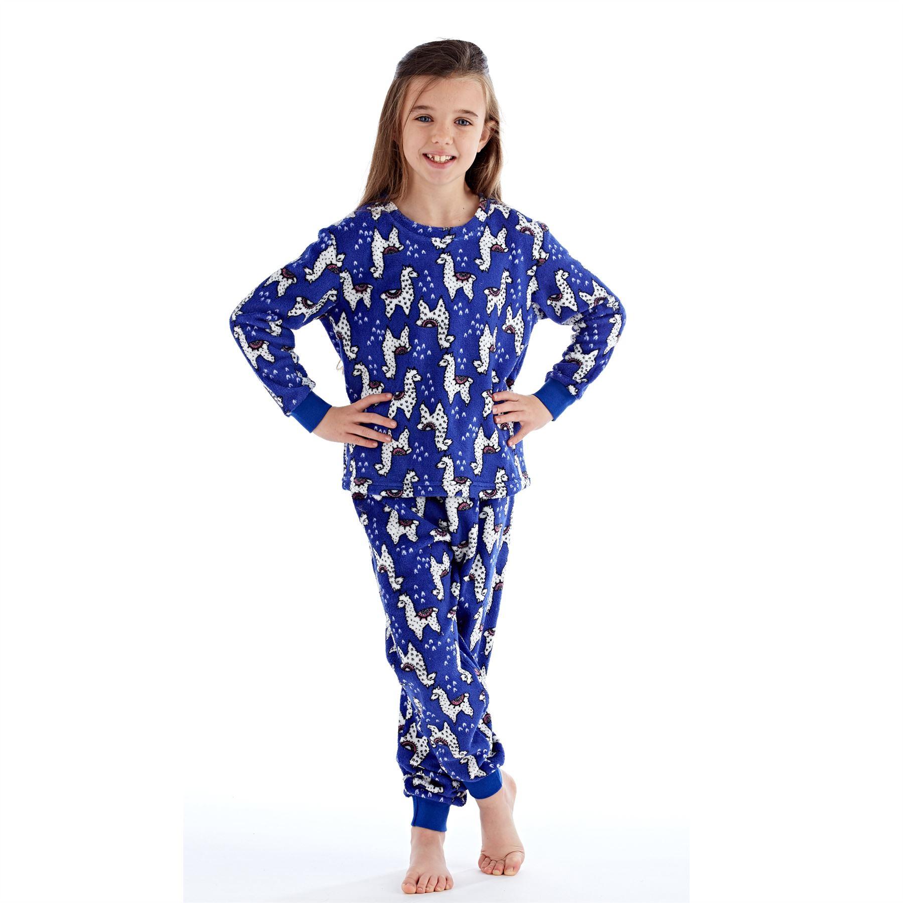 Girls-Boys-Fleece-Pyjamas-Childrens-Pyjama-Set-Kids-PJs-Age-2-13-Years thumbnail 10