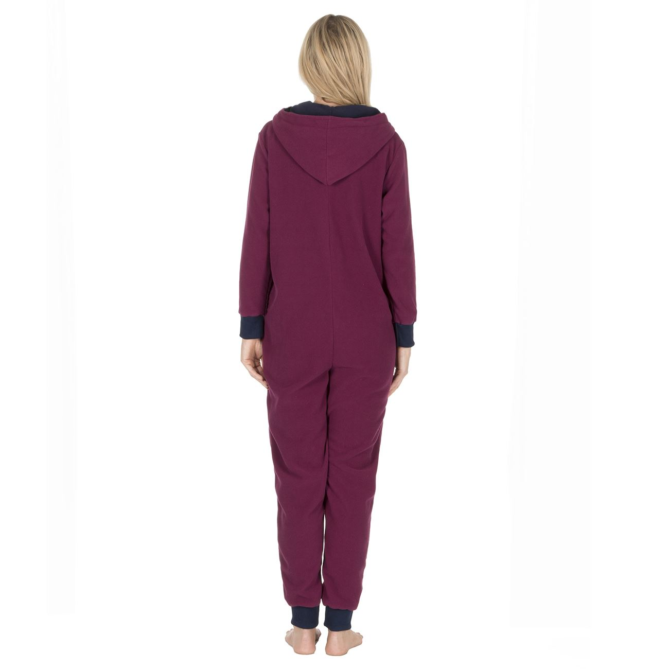 Ladies-Womens-Girls-Fleece-All-In-One-Pyjamas-Outfit-Jumpsuit-Costume-Size-6-18 thumbnail 40