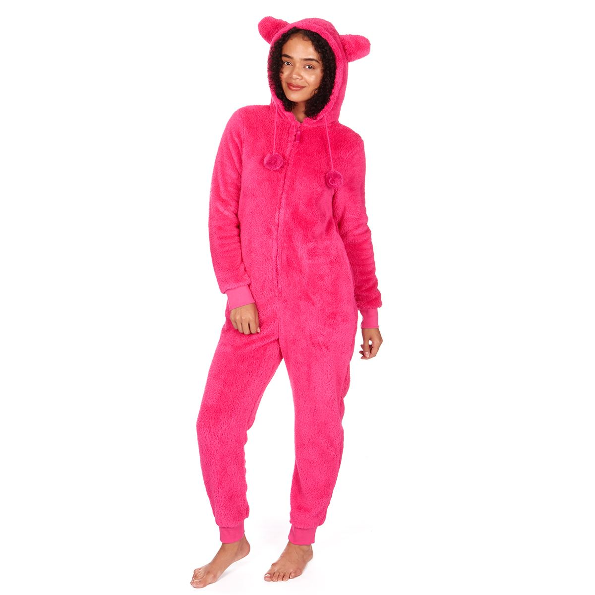 Ladies-Womens-Girls-Fleece-All-In-One-Pyjamas-Outfit-Jumpsuit-Costume-Size-6-18 thumbnail 23