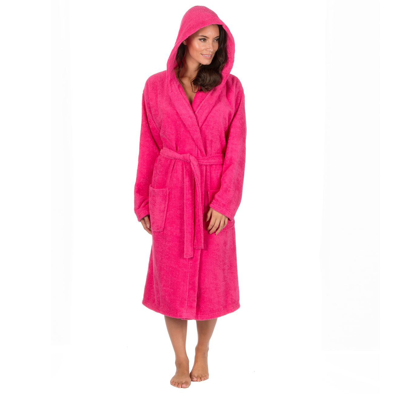 Womens-Ladies-100-Cotton-Terry-Towelling-Bath-Robe-Dressing-Gown-Size-8-22