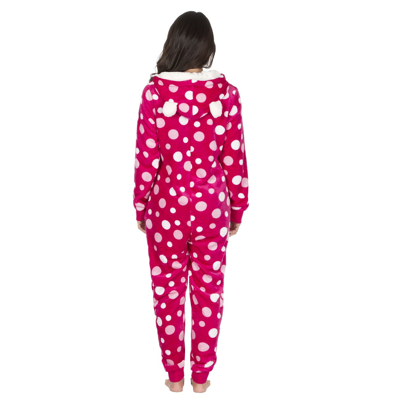 Ladies-Womens-Girls-Fleece-All-In-One-Pyjamas-Outfit-Jumpsuit-Costume-Size-6-18 thumbnail 31