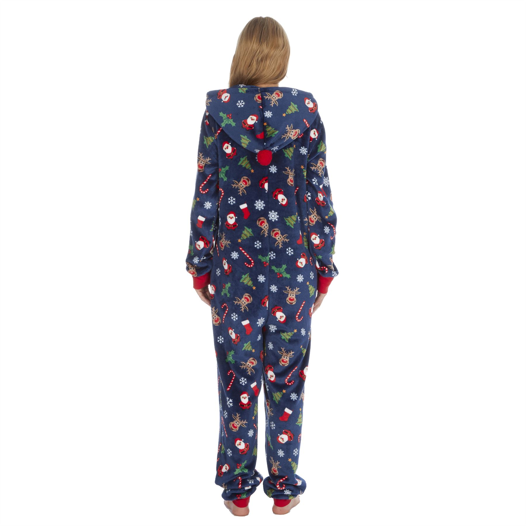 Ladies-Womens-Girls-Fleece-All-In-One-Pyjamas-Outfit-Jumpsuit-Costume-Size-6-18 thumbnail 50