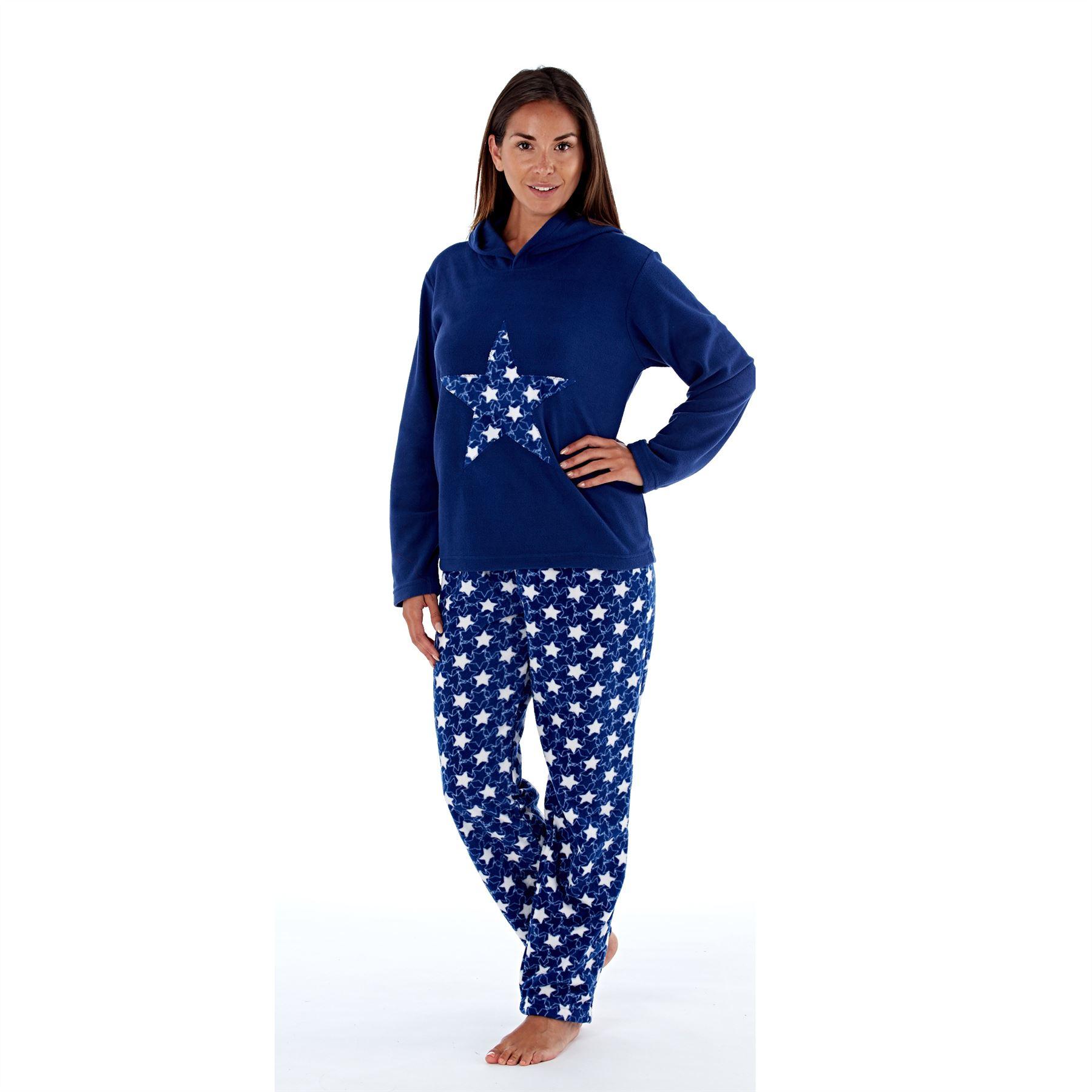 Womens-Ladies-Fleece-Thermal-Pyjamas-Pyjama-PJs-Winter-Nightwear-Set-Size-8-22