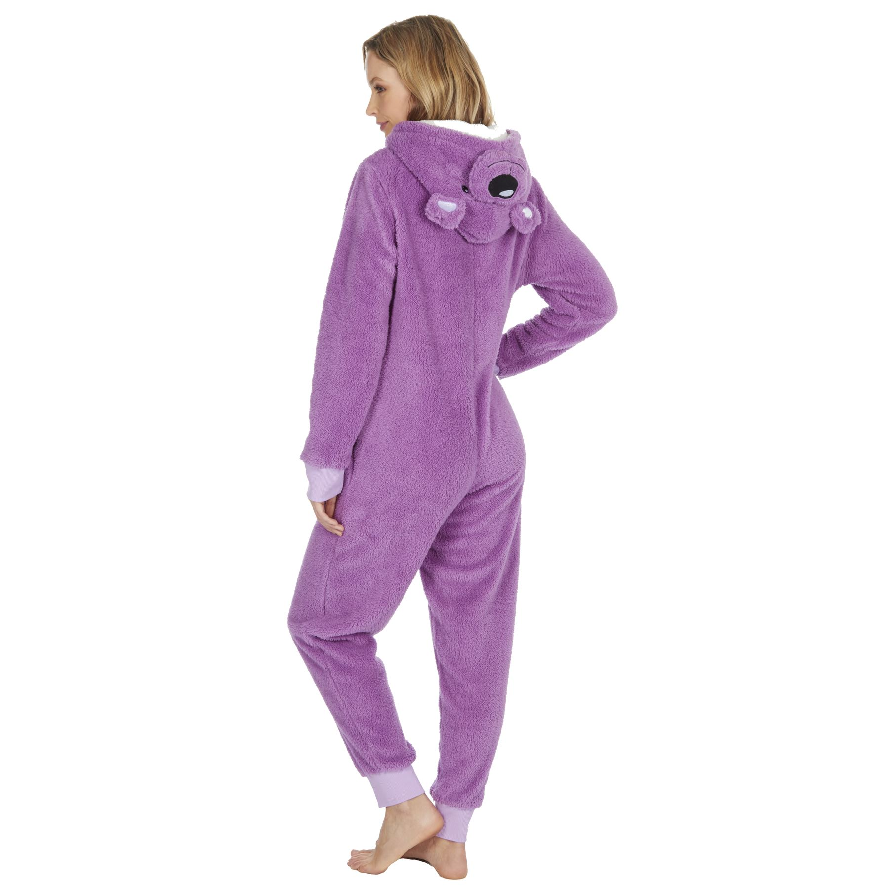 Ladies-Womens-Girls-Fleece-All-In-One-Pyjamas-Outfit-Jumpsuit-Costume-Size-6-18 thumbnail 8