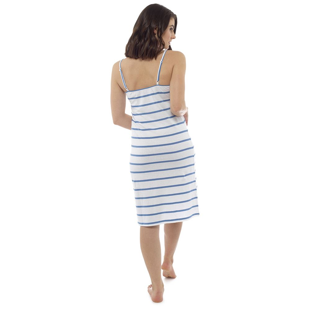 Ladies-Womens-Cotton-Chemise-Nightdress-Nightie-Pyjamas-Size-8-22-NEW miniatura 3