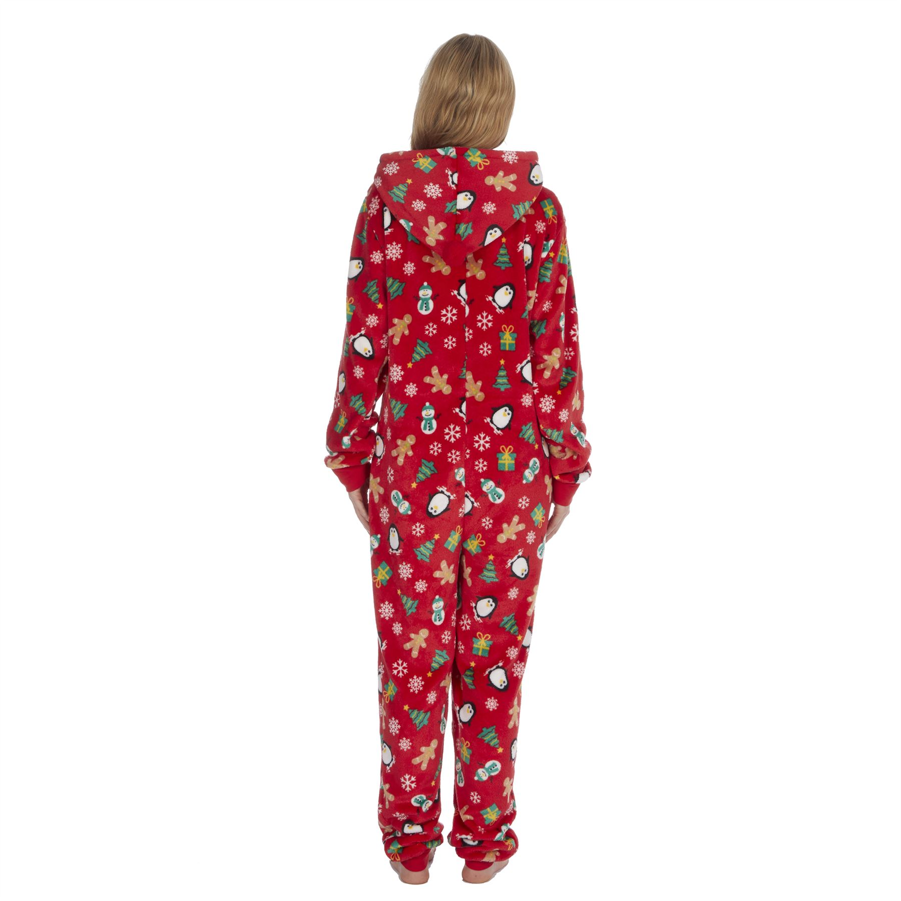 Ladies-Womens-Girls-Fleece-All-In-One-Pyjamas-Outfit-Jumpsuit-Costume-Size-6-18 thumbnail 54