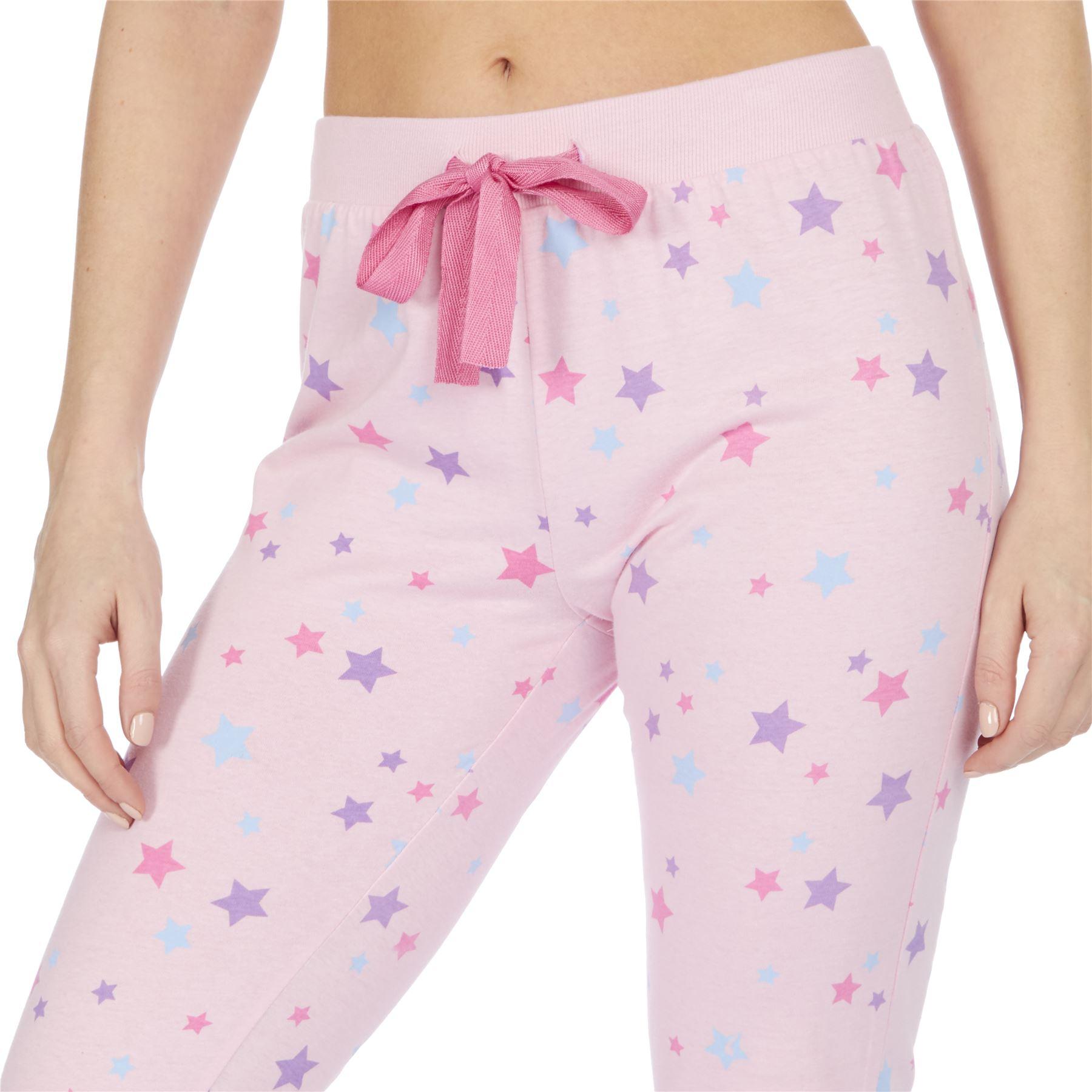 Womens-Ladies-Cotton-Pyjamas-Pyjama-PJs-Summer-Nightwear-Set-Size-8-18-NEW thumbnail 15