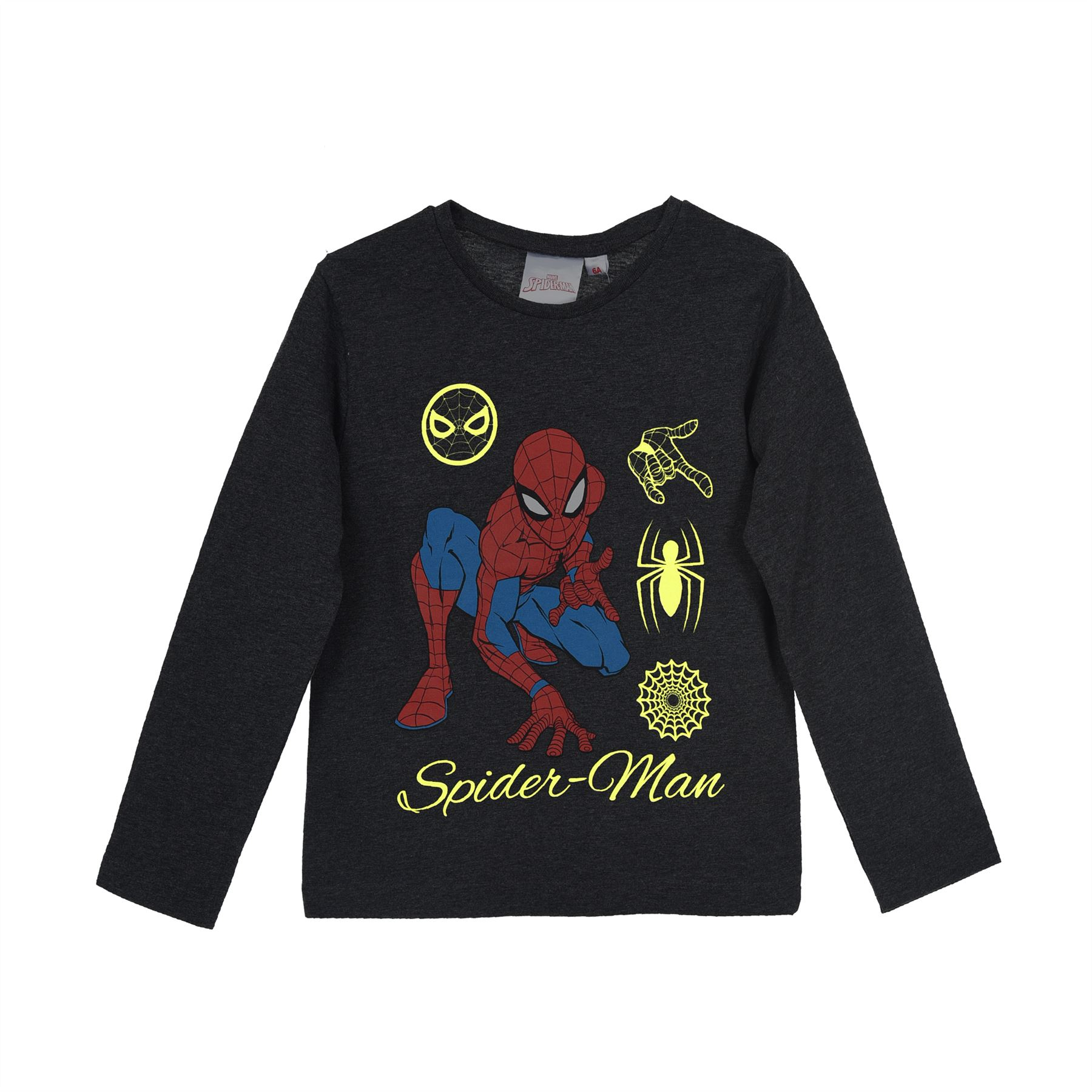 Boys Kids Official Spiderman Long Sleeve Sweatshirt Jumper Age 3-8 Years NEW