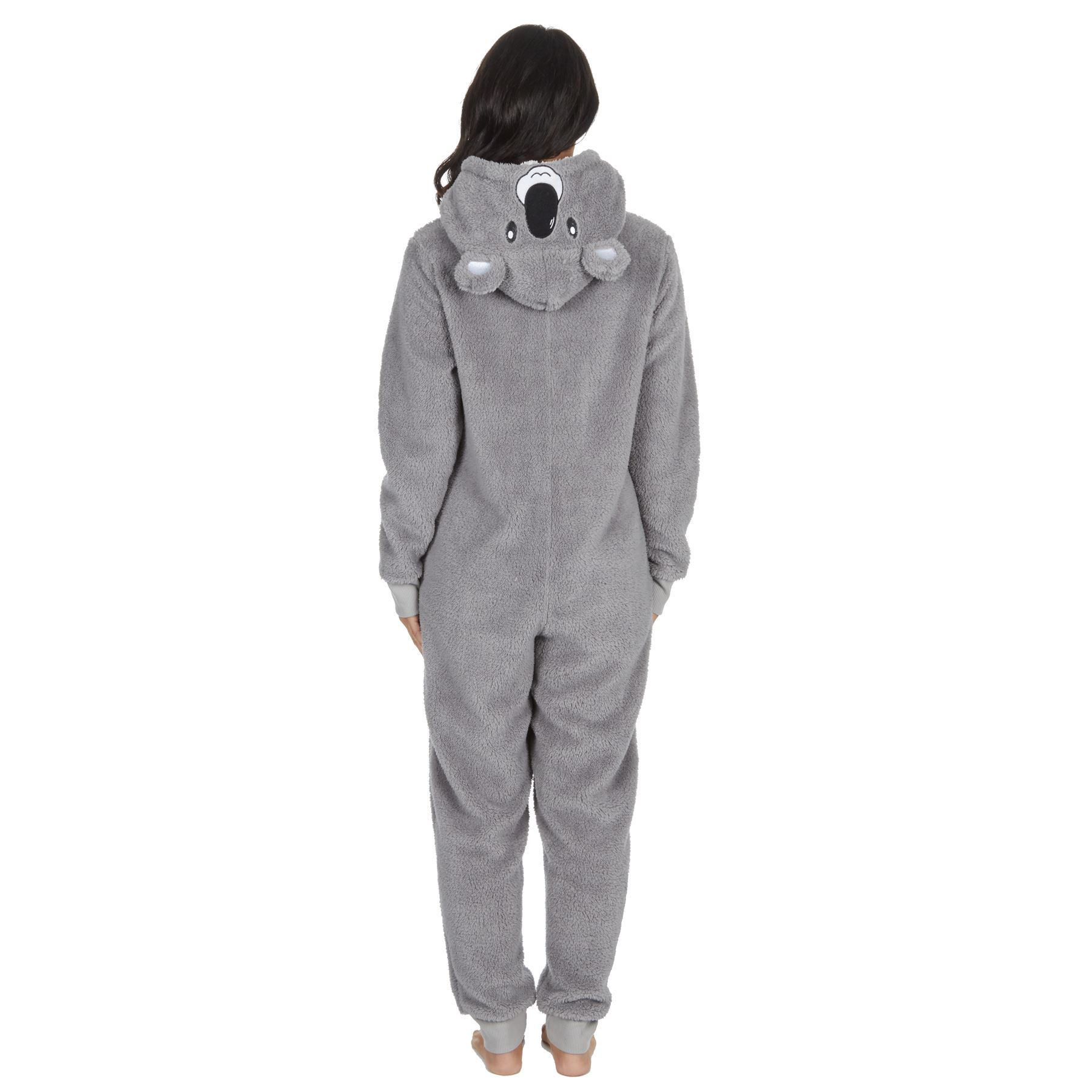 Ladies-Womens-Girls-Fleece-All-In-One-Pyjamas-Outfit-Jumpsuit-Costume-Size-6-18 thumbnail 5