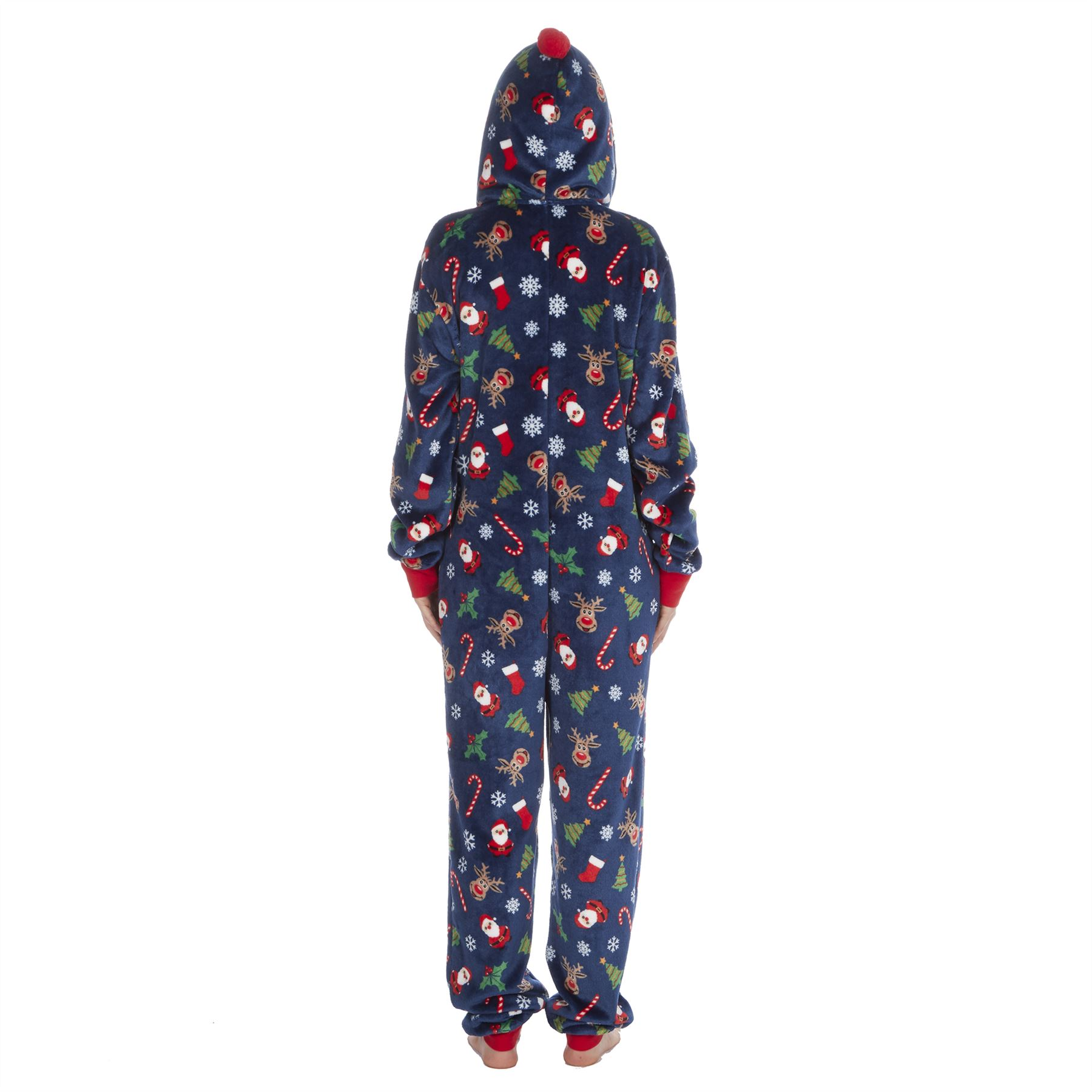 Ladies-Womens-Girls-Fleece-All-In-One-Pyjamas-Outfit-Jumpsuit-Costume-Size-6-18 thumbnail 49