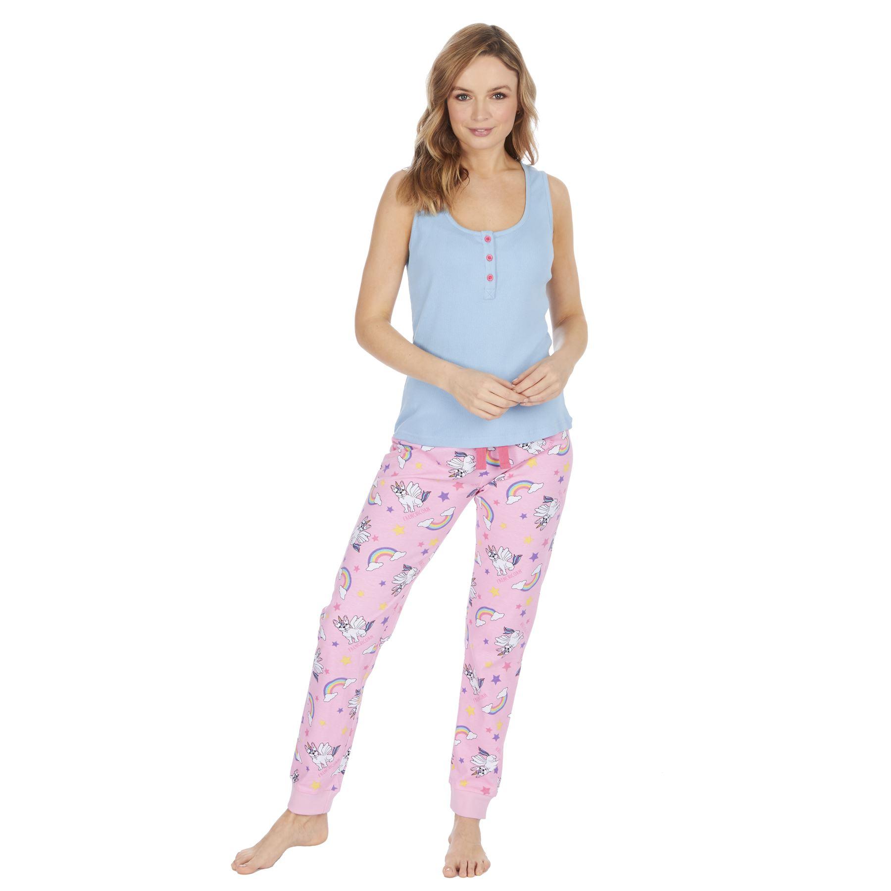 Womens-Ladies-Cotton-Pyjamas-Pyjama-PJs-Summer-Nightwear-Set-Size-8-18-NEW thumbnail 7