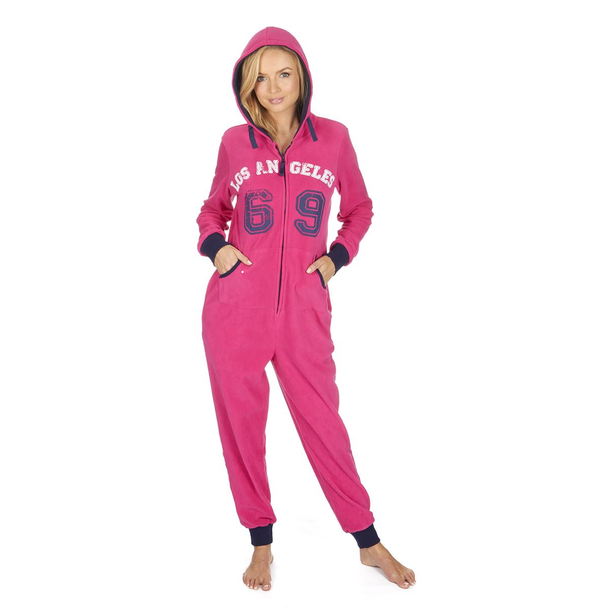 Ladies-Womens-Girls-Fleece-All-In-One-Pyjamas-Outfit-Jumpsuit-Costume-Size-6-18 thumbnail 20
