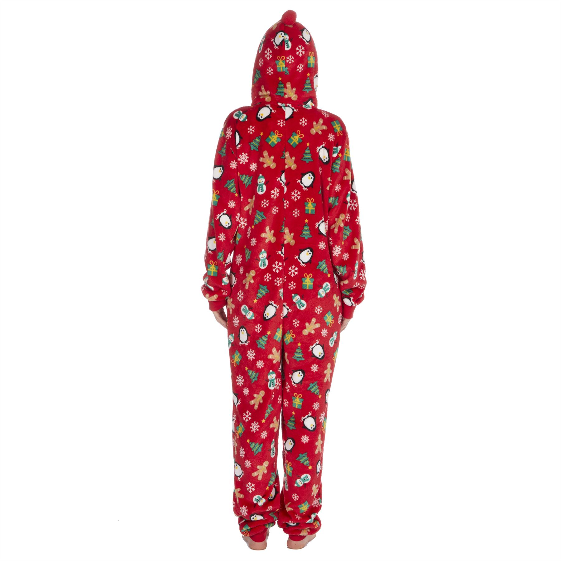 Ladies-Womens-Girls-Fleece-All-In-One-Pyjamas-Outfit-Jumpsuit-Costume-Size-6-18 thumbnail 53