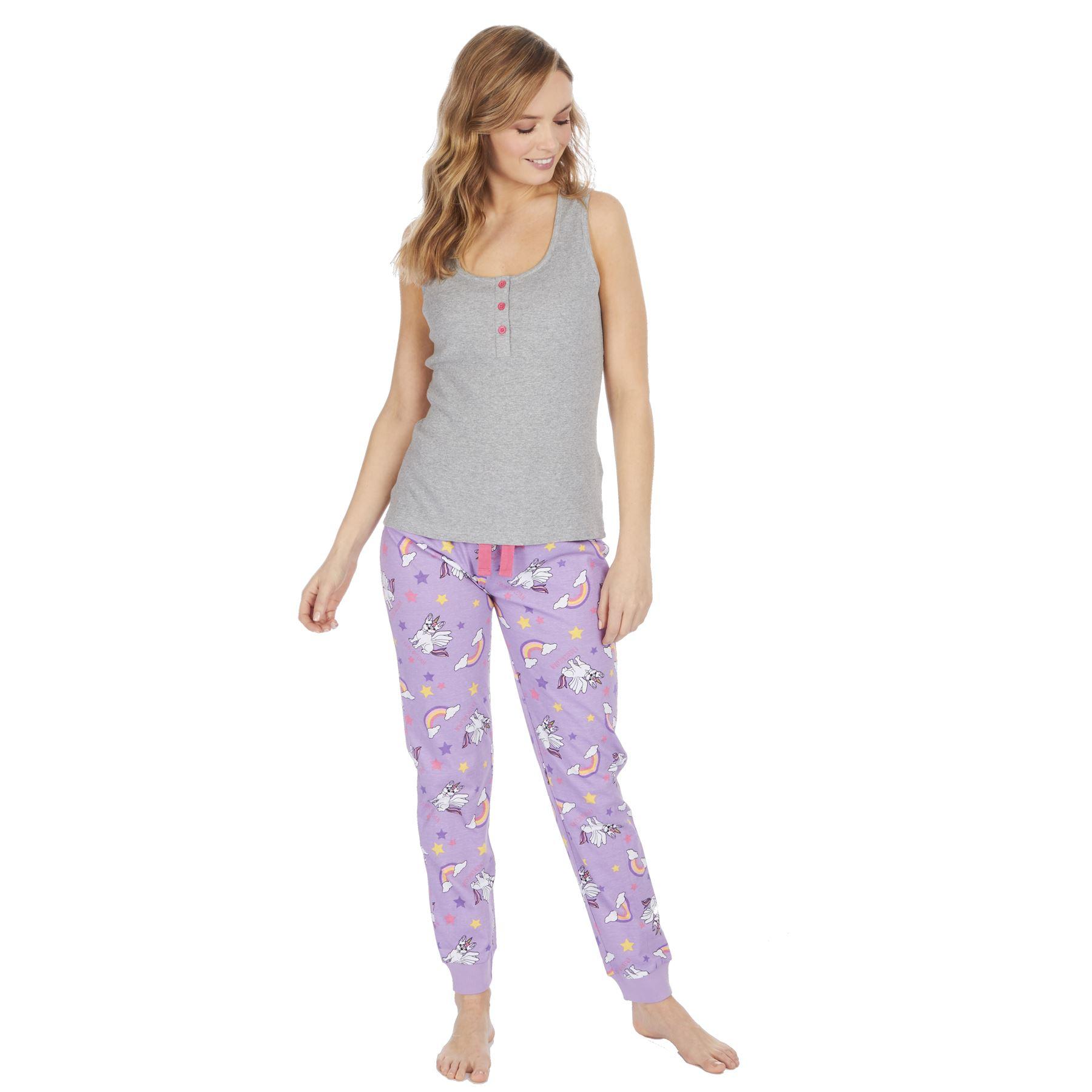 Womens-Ladies-Cotton-Pyjamas-Pyjama-PJs-Summer-Nightwear-Set-Size-8-18-NEW thumbnail 11