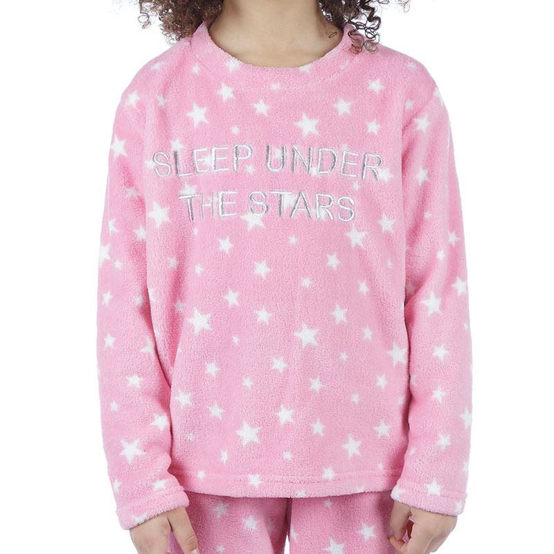Girls-Boys-Fleece-Pyjamas-Childrens-Pyjama-Set-Kids-PJs-Age-2-13-Years thumbnail 36