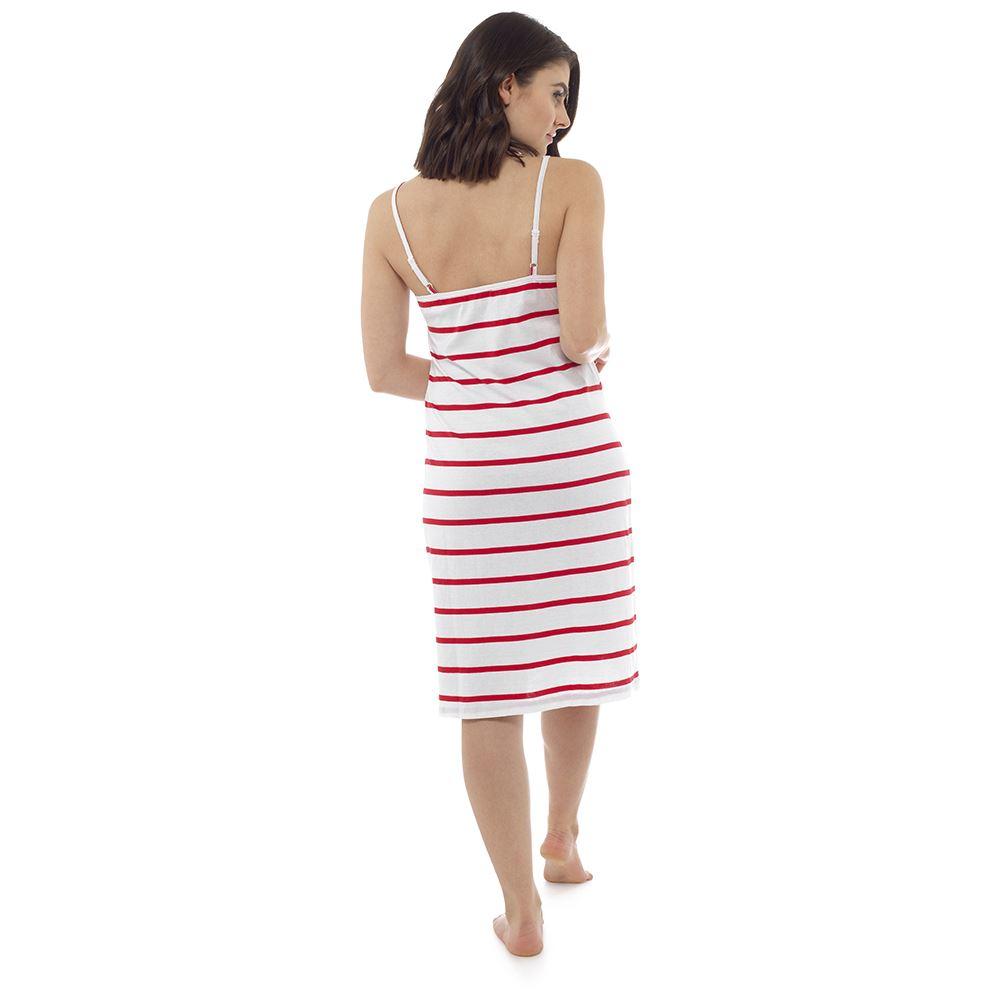 Ladies-Womens-Cotton-Chemise-Nightdress-Nightie-Pyjamas-Size-8-22-NEW miniatura 7