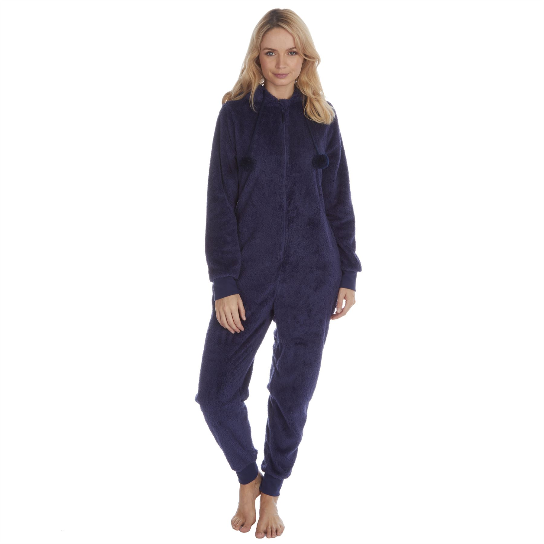 Ladies-Womens-Girls-Fleece-All-In-One-Pyjamas-Outfit-Jumpsuit-Costume-Size-6-18 thumbnail 67