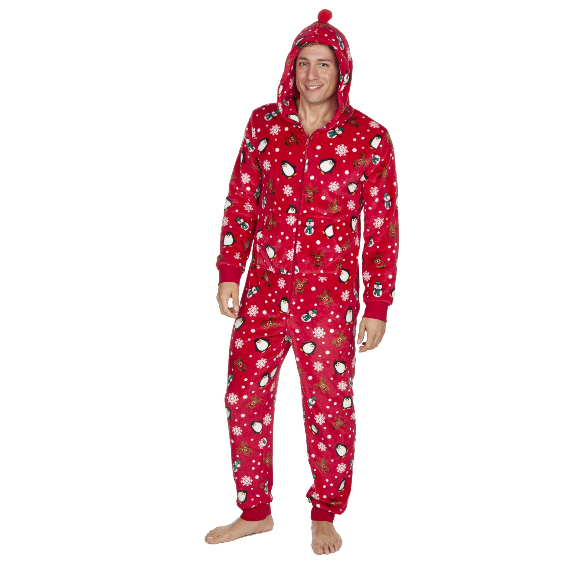 Ladies-Womens-Girls-Fleece-All-In-One-Pyjamas-Outfit-Jumpsuit-Costume-Size-6-18 thumbnail 57