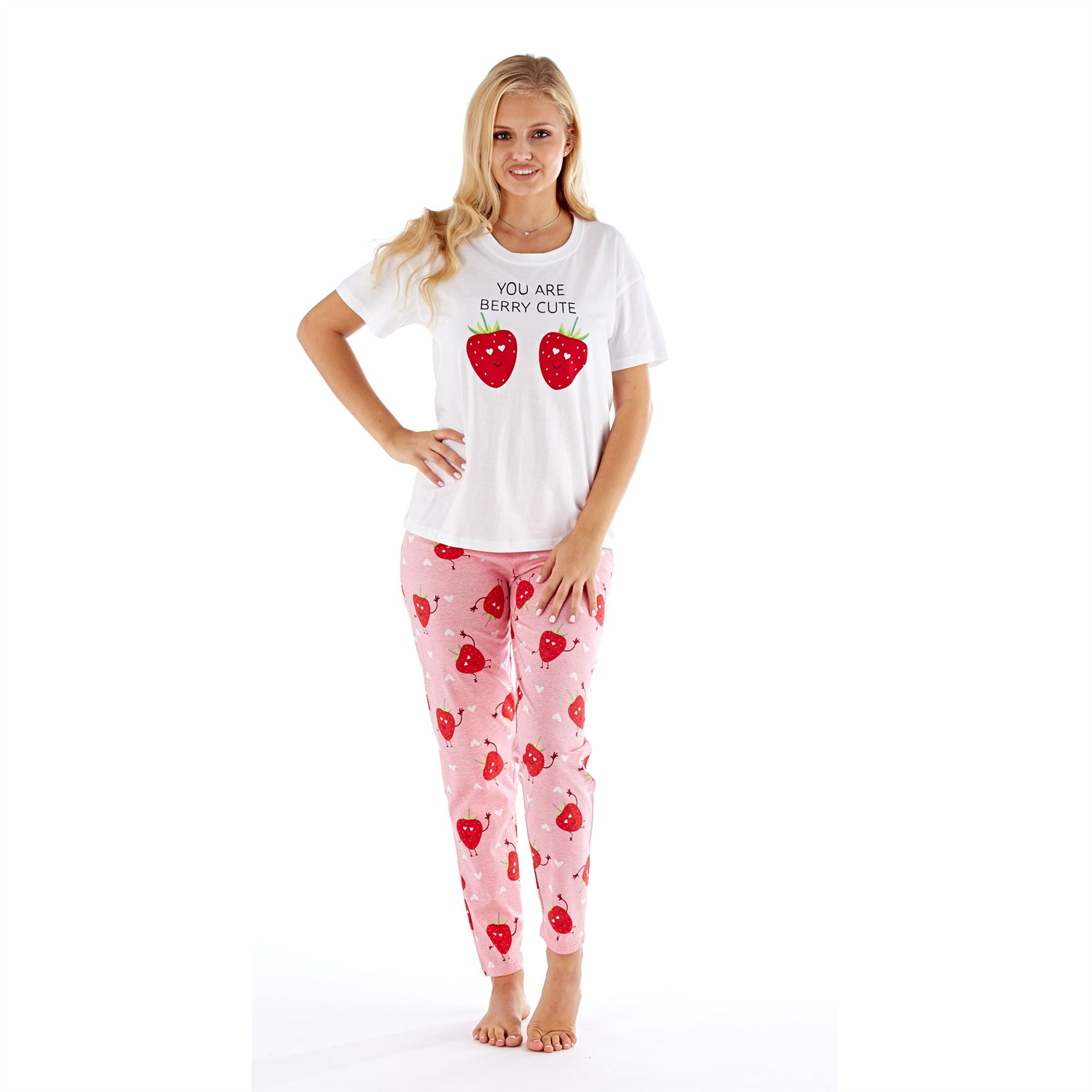 Womens-Ladies-Cotton-Pyjamas-Pyjama-PJs-Summer-Nightwear-Set-Size-8-18-NEW thumbnail 32