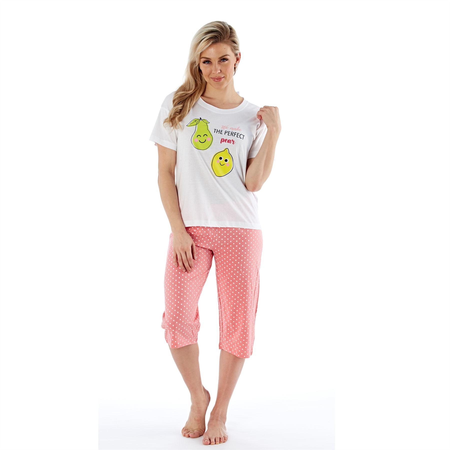 Womens-Ladies-Cotton-Pyjamas-Pyjama-PJs-Summer-Nightwear-Set-Size-8-18-NEW thumbnail 27