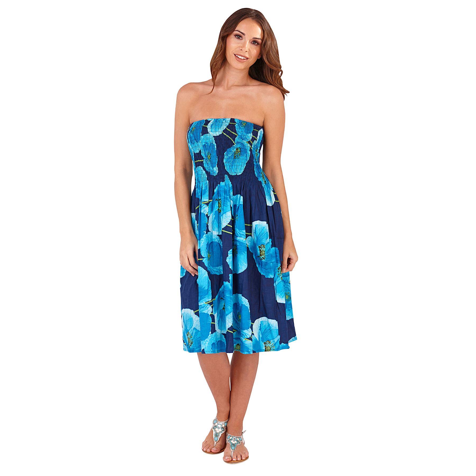 Ladies Summer/Beach Cotton 3 in 1 Bandeau Strapless Sun ...