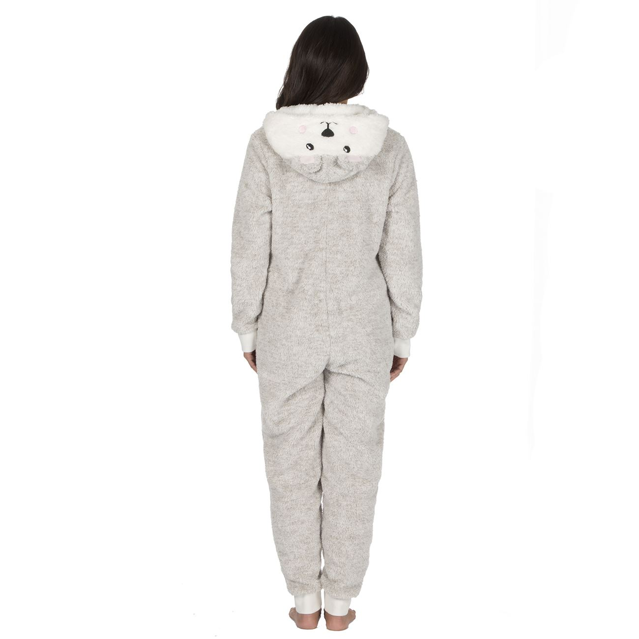 Ladies-Womens-Girls-Fleece-All-In-One-Pyjamas-Outfit-Jumpsuit-Costume-Size-6-18 thumbnail 38