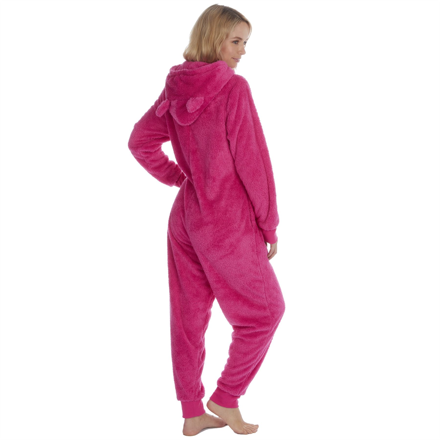 Ladies-Womens-Girls-Fleece-All-In-One-Pyjamas-Outfit-Jumpsuit-Costume-Size-6-18 thumbnail 64