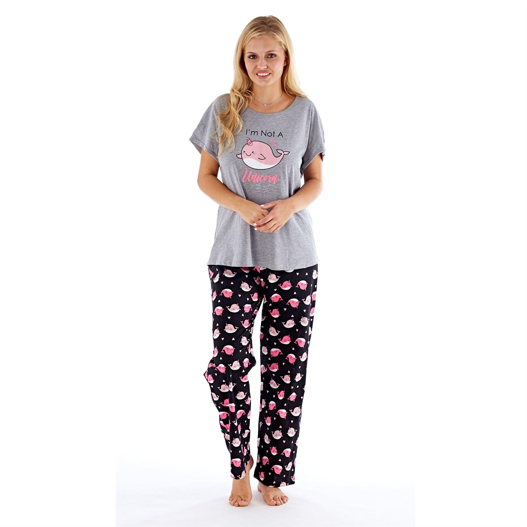 Womens-Ladies-Cotton-Pyjamas-Pyjama-PJs-Summer-Nightwear-Set-Size-8-18-NEW thumbnail 23