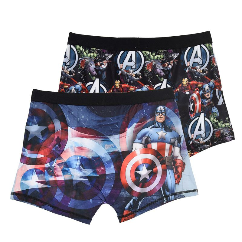 Mens-Official-Character-Boxer-Shorts-Boxers-Trunks-Hipsters-2-Pack-Size-S-M-L-XL thumbnail 3