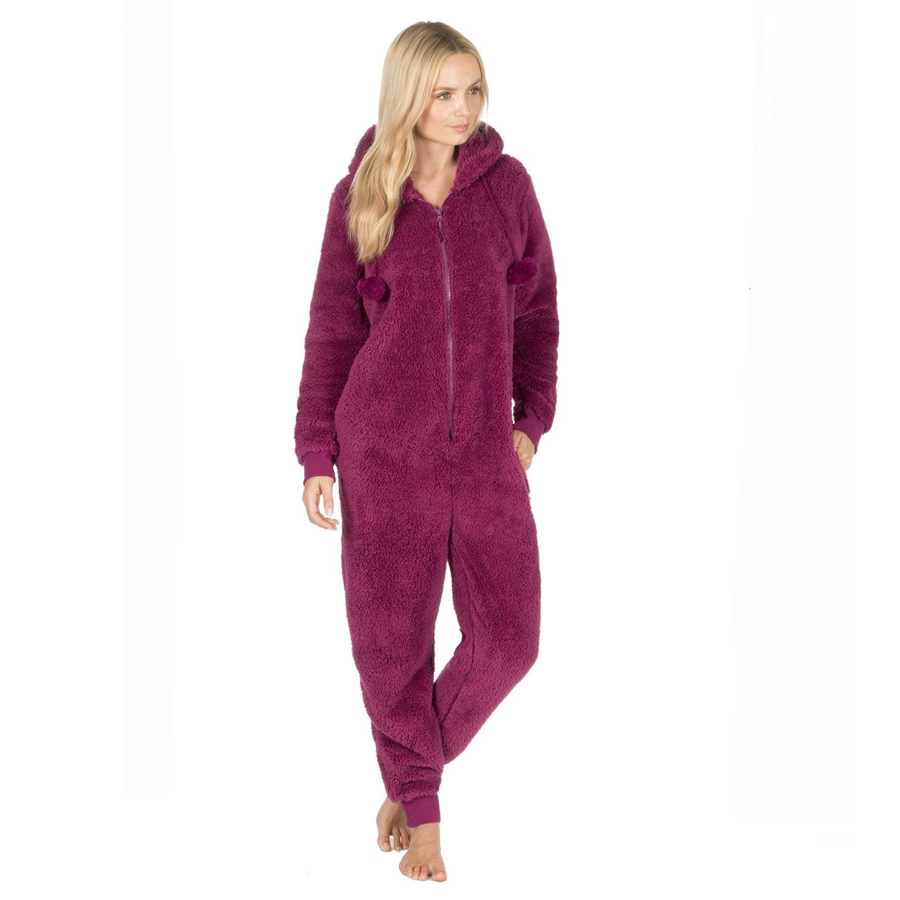 Ladies-Womens-Girls-Fleece-All-In-One-Pyjamas-Outfit-Jumpsuit-Costume-Size-6-18 thumbnail 25