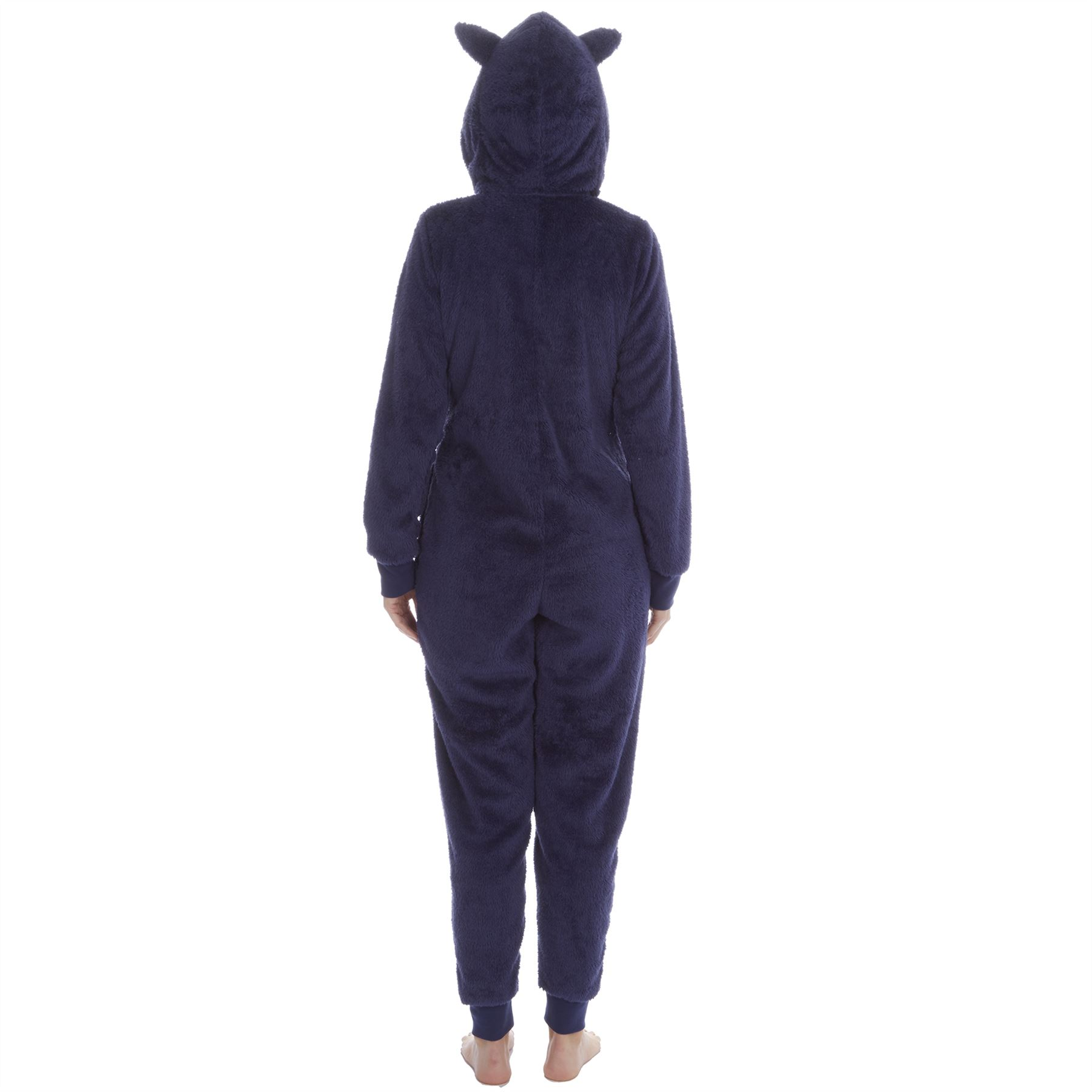Ladies-Womens-Girls-Fleece-All-In-One-Pyjamas-Outfit-Jumpsuit-Costume-Size-6-18 thumbnail 66