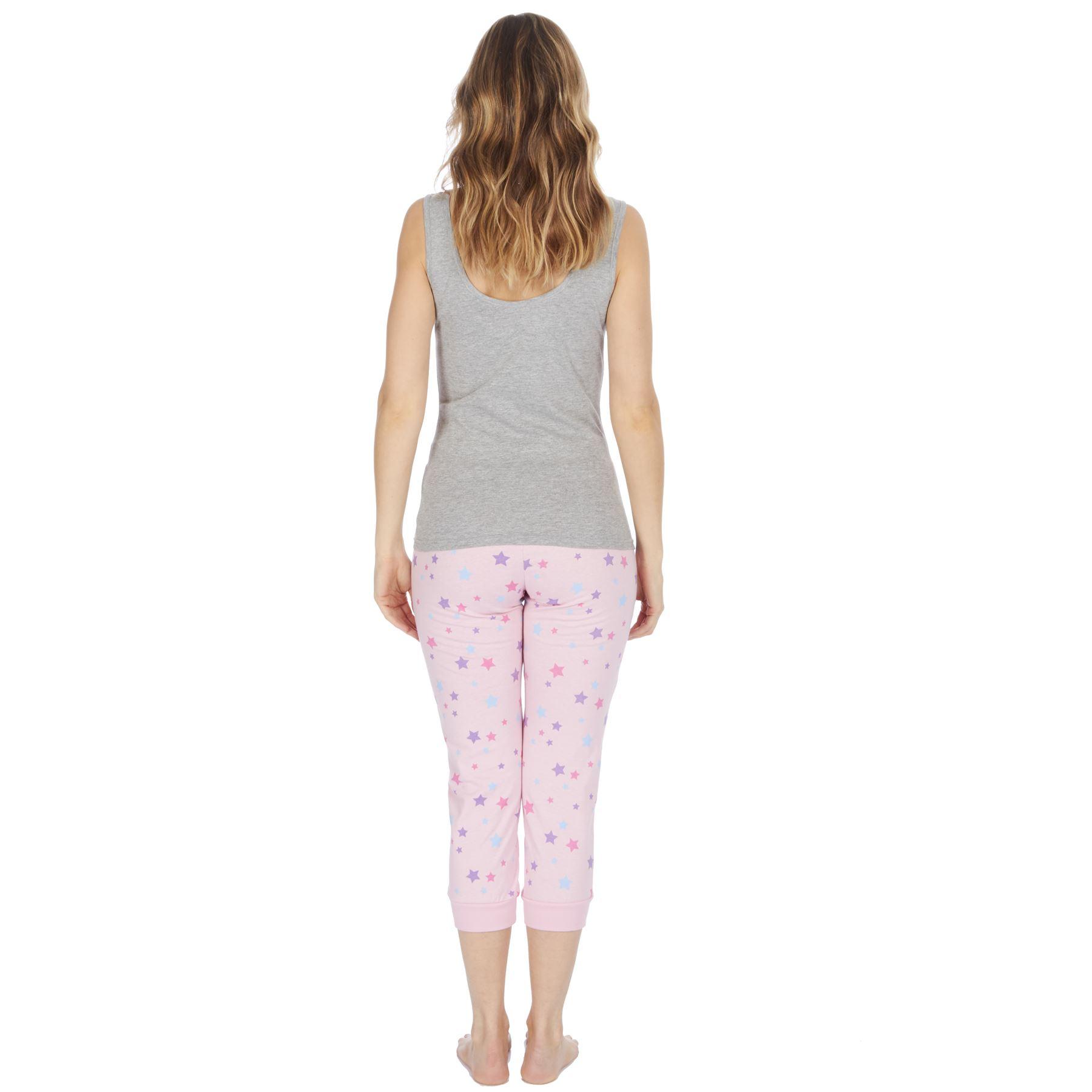 Womens-Ladies-Cotton-Pyjamas-Pyjama-PJs-Summer-Nightwear-Set-Size-8-18-NEW thumbnail 14