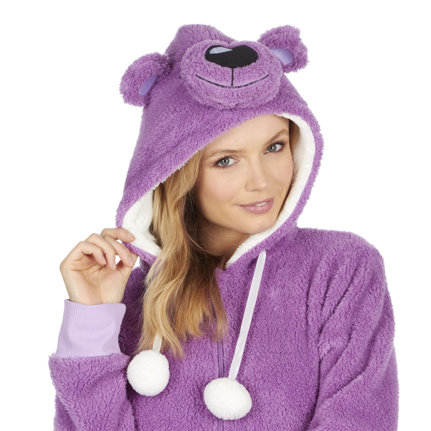 Ladies-Womens-Girls-Fleece-All-In-One-Pyjamas-Outfit-Jumpsuit-Costume-Size-6-18 thumbnail 9