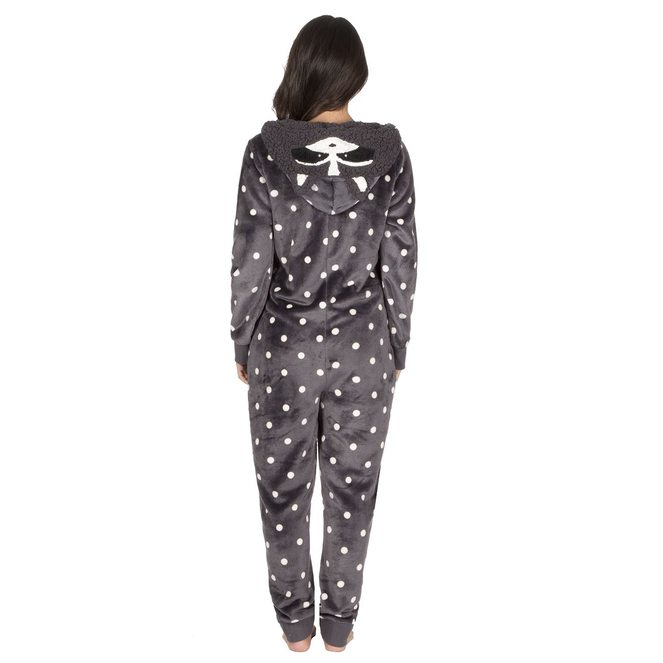 Ladies-Womens-Girls-Fleece-All-In-One-Pyjamas-Outfit-Jumpsuit-Costume-Size-6-18 thumbnail 33