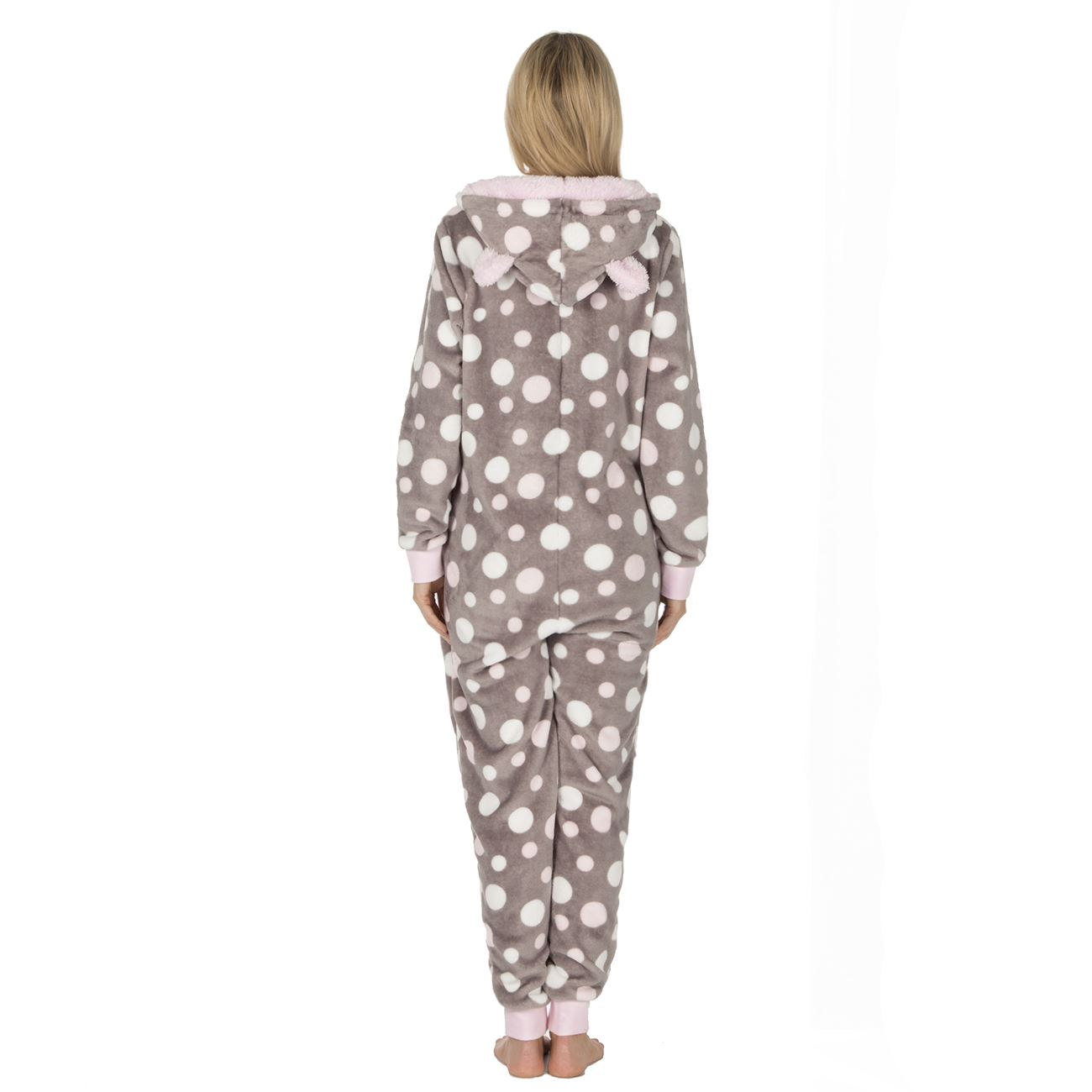 Ladies-Womens-Girls-Fleece-All-In-One-Pyjamas-Outfit-Jumpsuit-Costume-Size-6-18 thumbnail 29