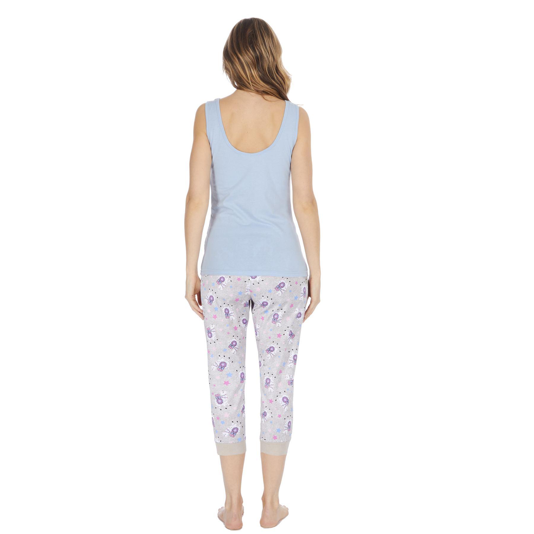 Womens-Ladies-Cotton-Pyjamas-Pyjama-PJs-Summer-Nightwear-Set-Size-8-18-NEW thumbnail 19