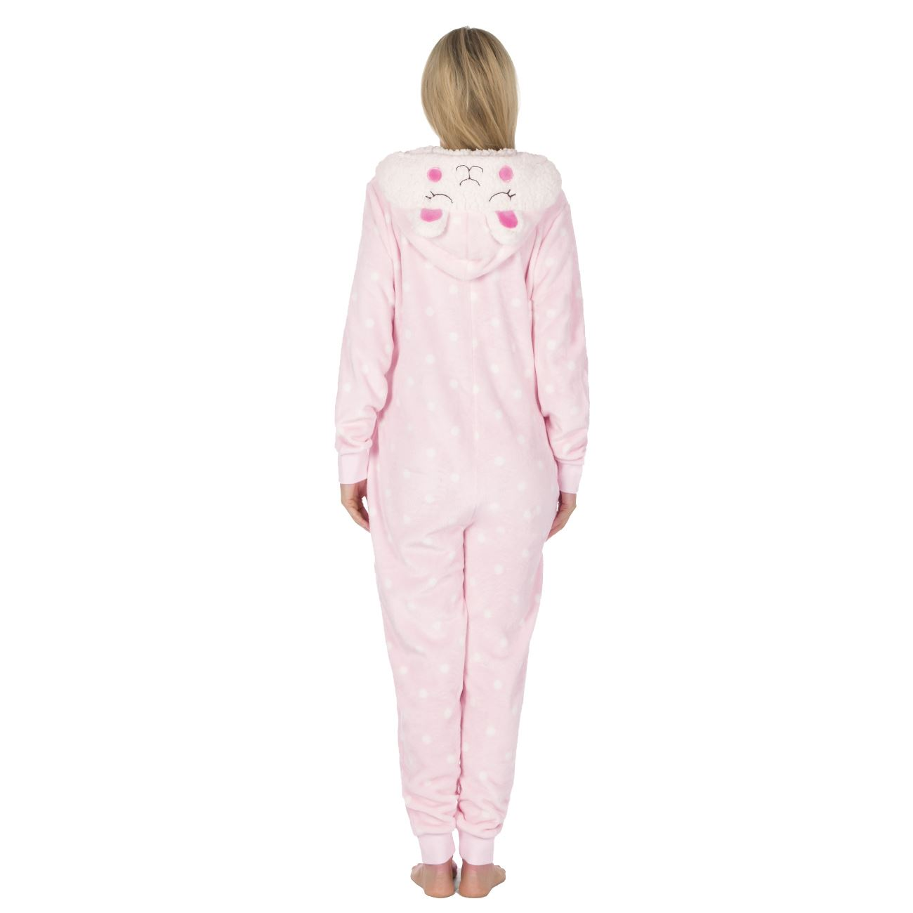 Ladies-Womens-Girls-Fleece-All-In-One-Pyjamas-Outfit-Jumpsuit-Costume-Size-6-18 thumbnail 35