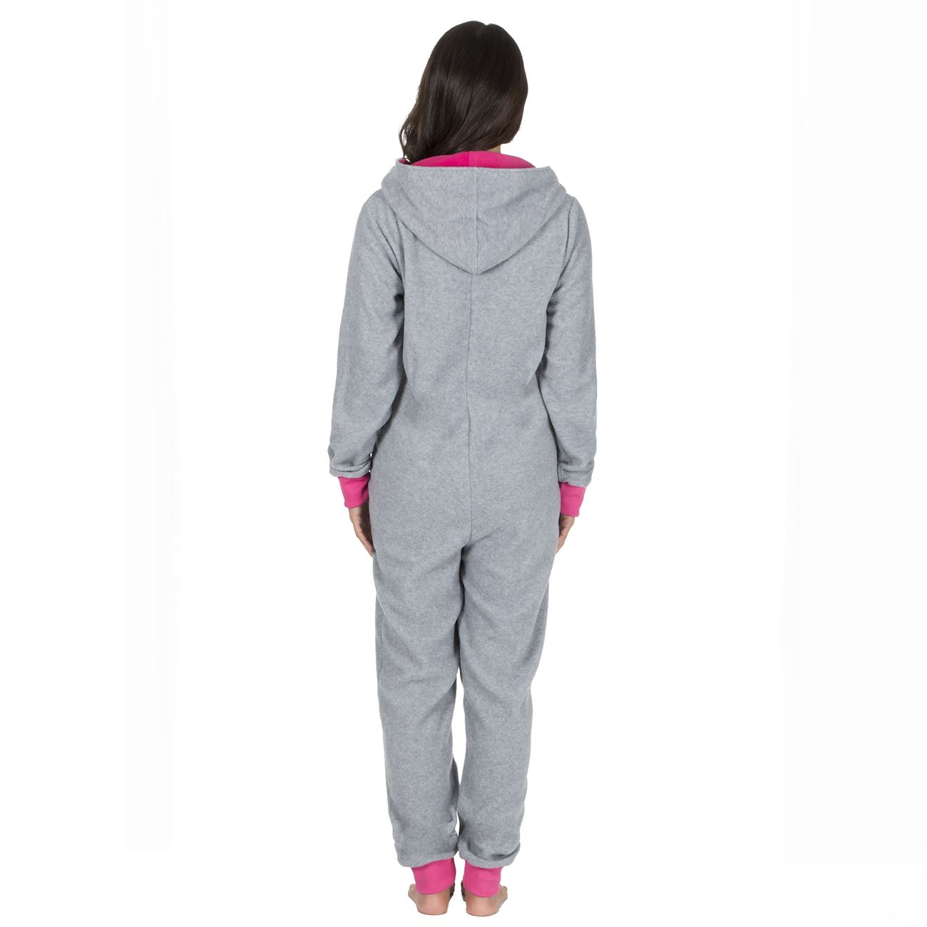Ladies-Womens-Girls-Fleece-All-In-One-Pyjamas-Outfit-Jumpsuit-Costume-Size-6-18 thumbnail 43